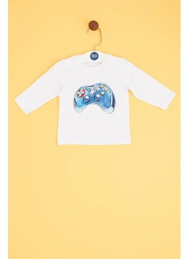 BG Baby Erkek Bebek Beyaz T-Shirt Beyaz
